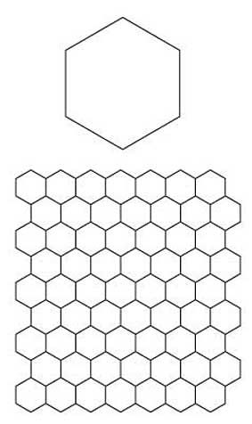 English paper piecing hexagons pattern free download for Quilting hexagon templates free