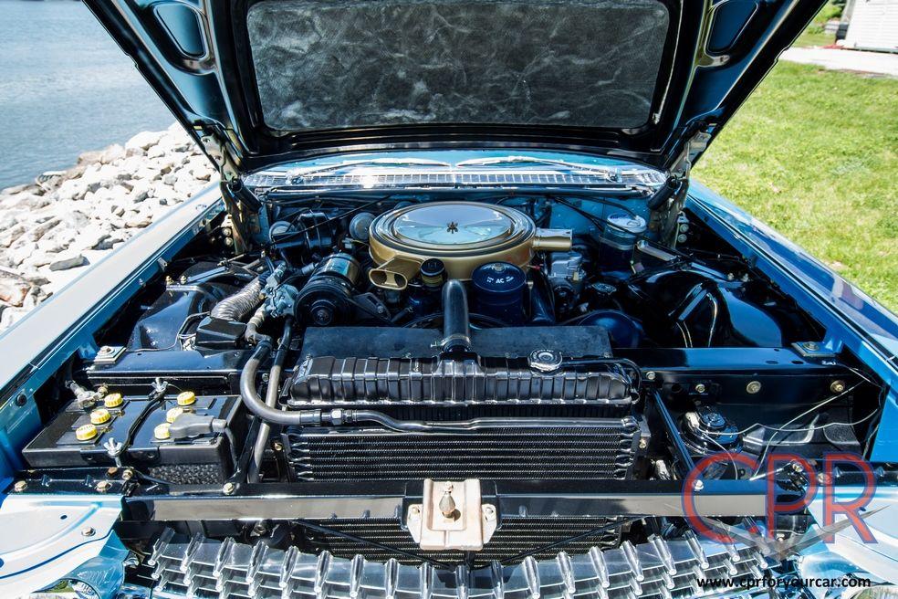 Engine compartment of a 1959 Cadillac Eldorado Biarritz - restored