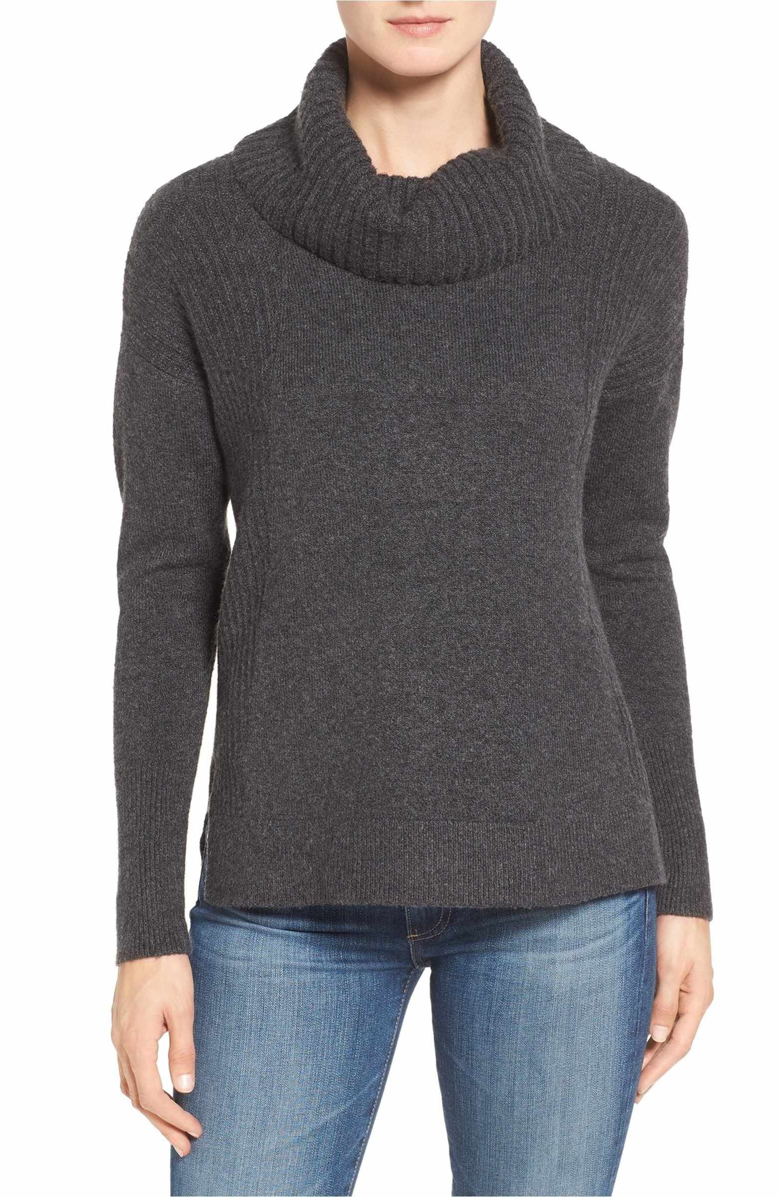 Cozy Rib Detail Relaxed Turtleneck | Cozy, Nordstrom and Capsule ...