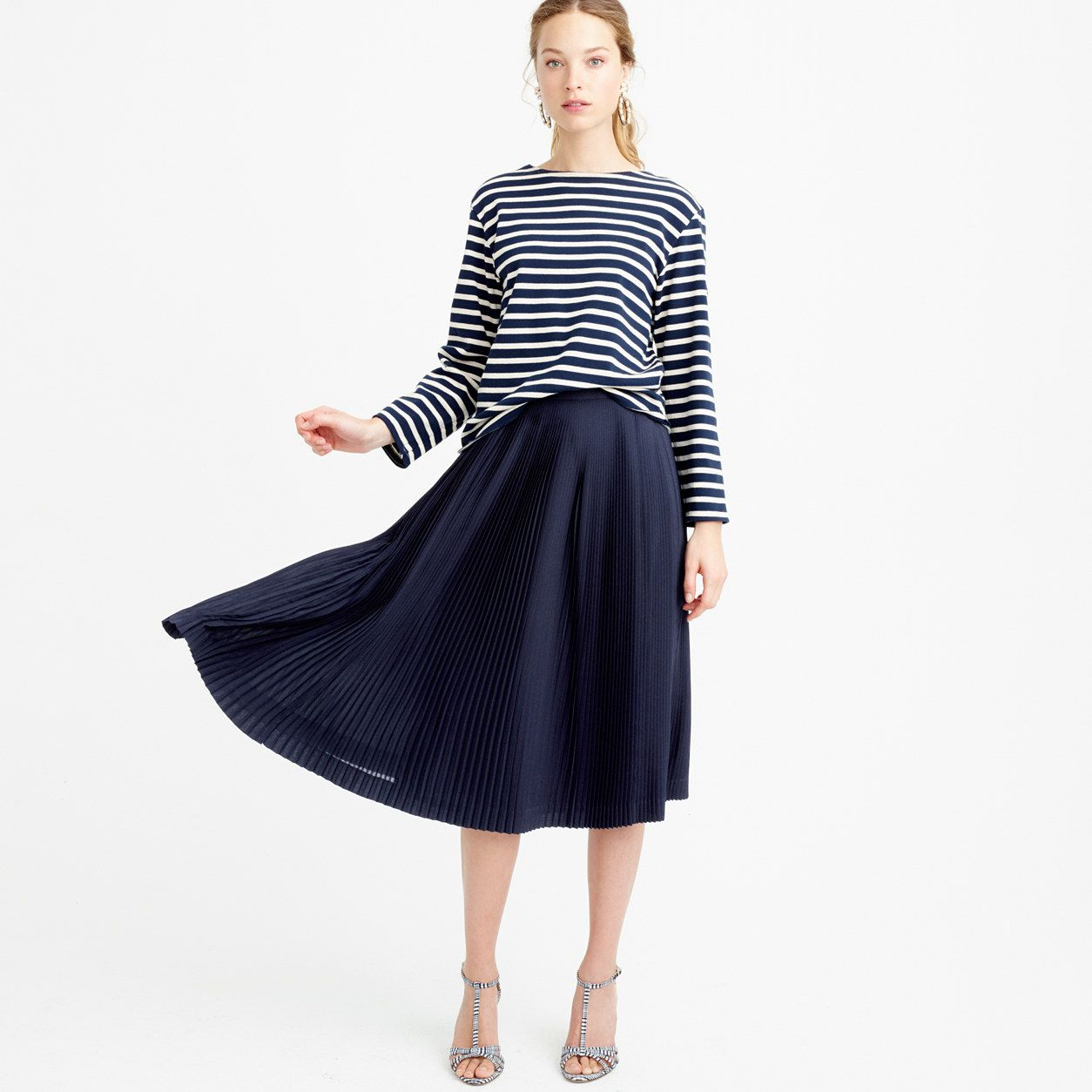 Micro-pleated midi skirt : Shop By Category | J.Crew | Fashion ...