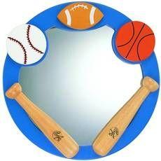 Baseball Football And Basketball Kid S Mirror Kids Mirrors