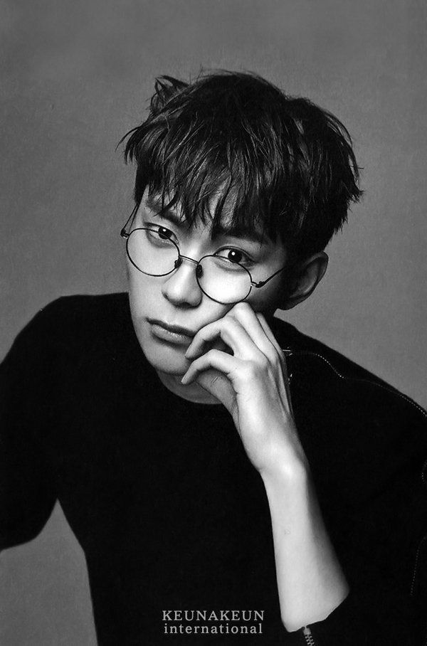 KNK Heejun - WHAT ARE THOSE GLASSES? THAT SHOULD BE ILLEGAL ON HIM.