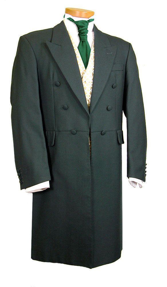Boys Size Black Cutaway Morning Frock Coat Victorian Costume Long Tail Kids