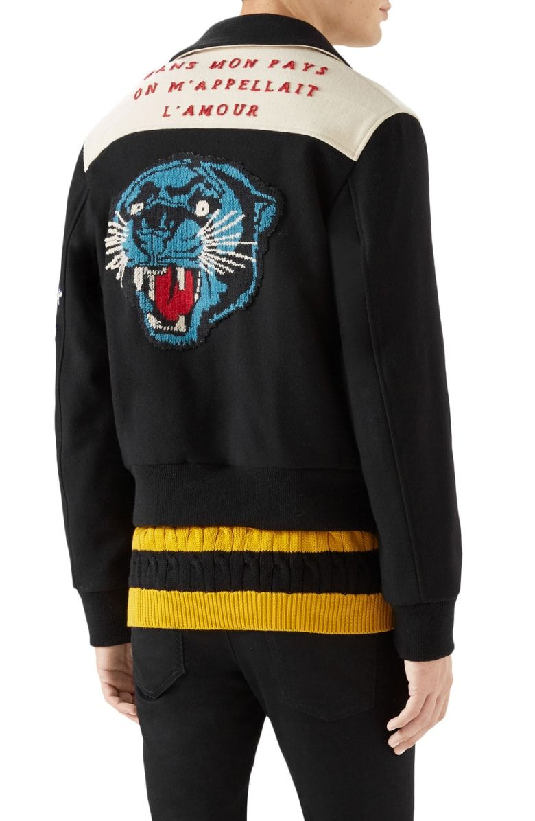 Gucci Wool Bomber With Cat Applique Nordstrom Wool Bomber Jacket Cat Applique Wool [ 1196 x 780 Pixel ]