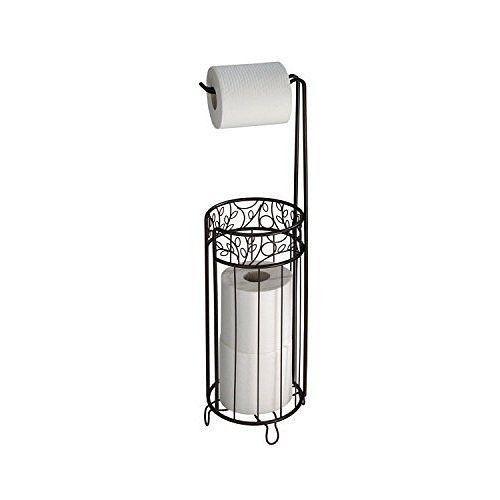 Free Standing Toilet Paper Roll Tissue Holder Stand Bronze Bathroom Organizer Interdesign Free Standing Toilet Paper Holder Toilet Paper Holder Interdesign