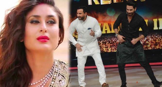 When Kareena Kapoor S Ex Lover Shahid Kapoor Shook A Leg With Hubby Saif Ali Khan Shahid Kapoor Saif Ali Khan Khan