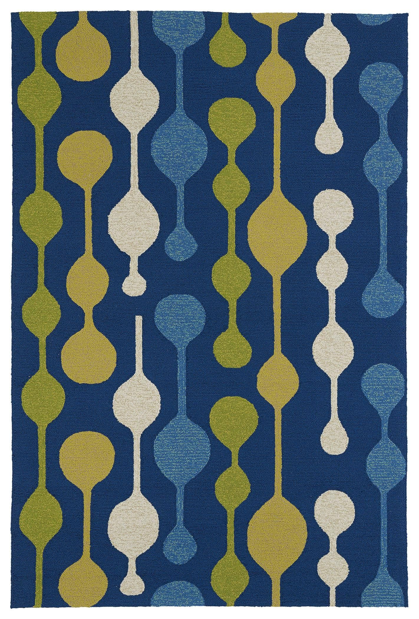Home and Porch 2035 17 Blue by Kaleen Rugs