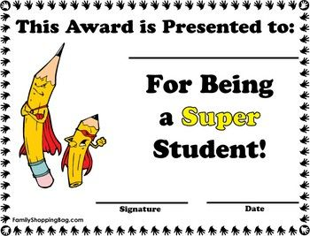 Playful image intended for printable awards for students