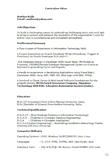 Curriculum Vitae Sample Education Free Download Sample Template