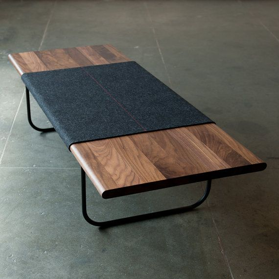 Modern coffee table charcoal using some fabric to for Coffee table texture