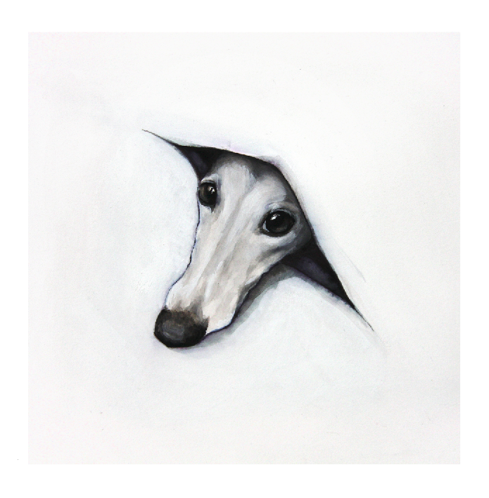 PERSONALISED GREYHOUND BIRTHDAY CARD Name printed on front BLANK INSIDE  A5 size