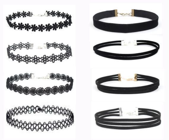 1 Set Black Choker Necklaces
