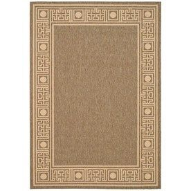 Safavieh Courtyard Dark Beige/Beige Rectangular Indoor/Outdoor Machine-Made Coastal Area Rug (Common: 8X11; Actual: 8-Ft
