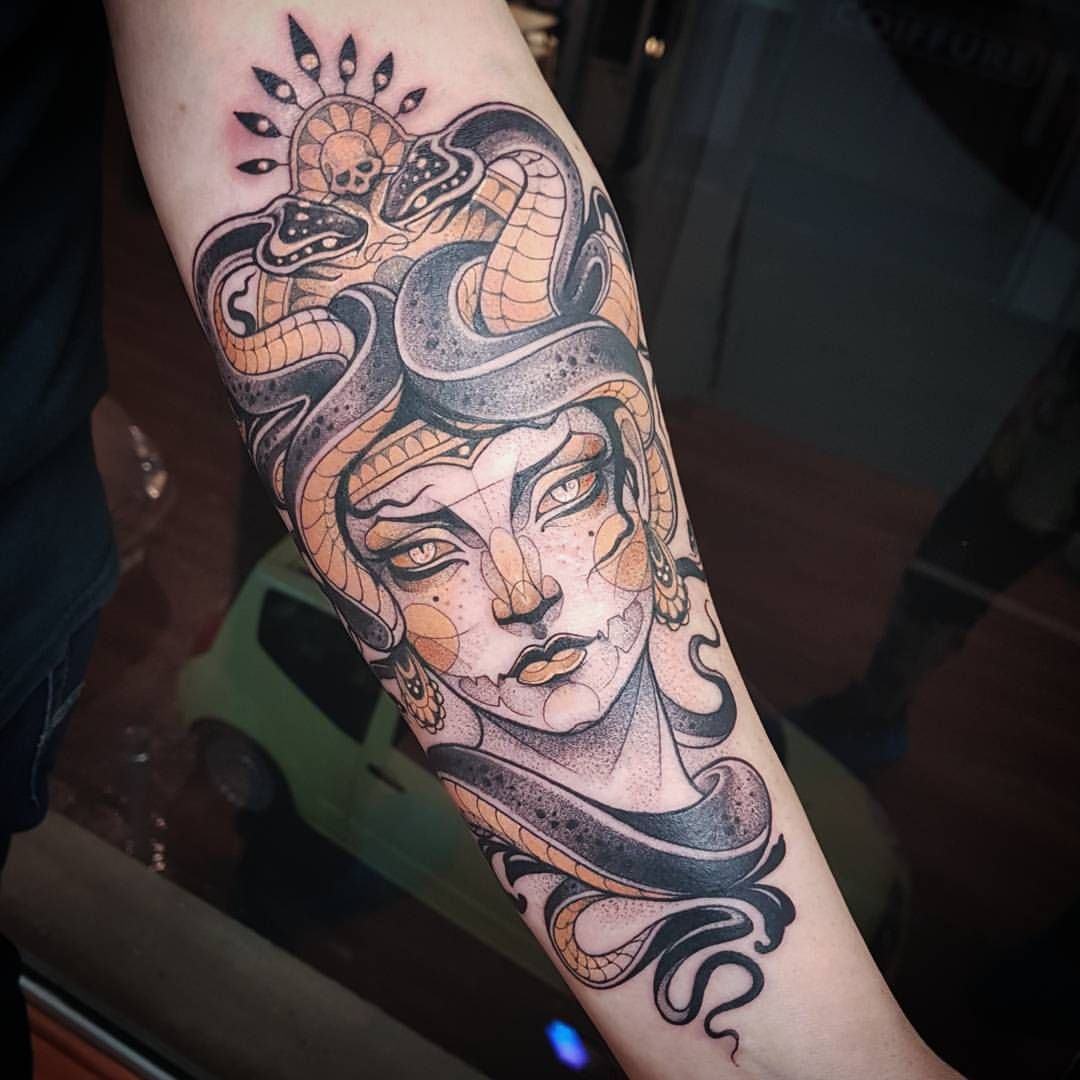Medusa Tattoo Ink Inked Graphictattoo Colortattoo