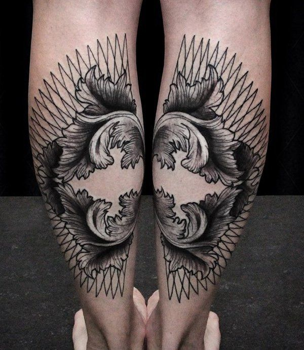 50+ Amazing Calf Tattoos | Tattoo Ideas ♡ | Leg tattoo men ...