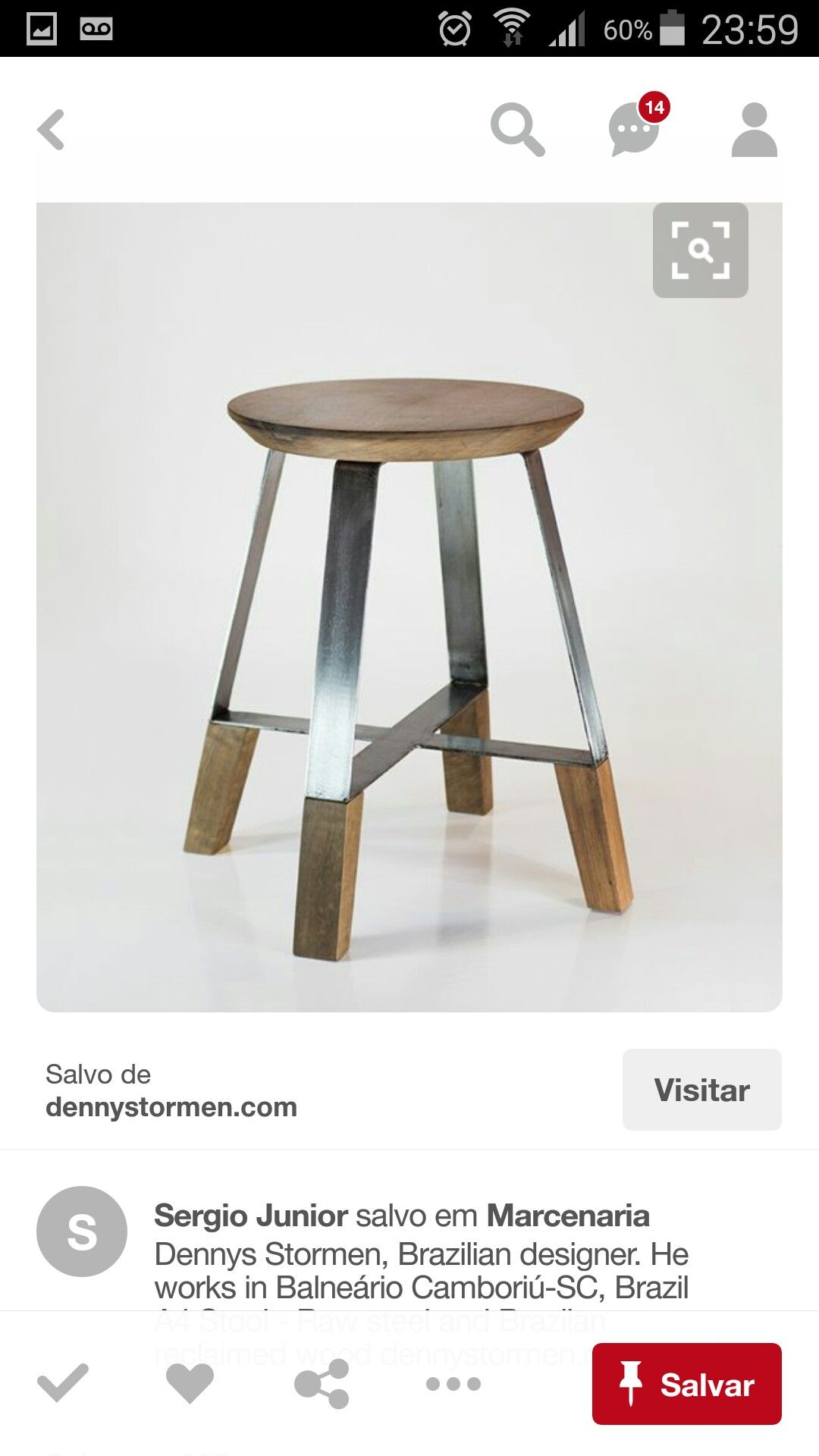 Banqueta krzes a en 2019 muebles de acero muebles for Muebles de diseno industrial