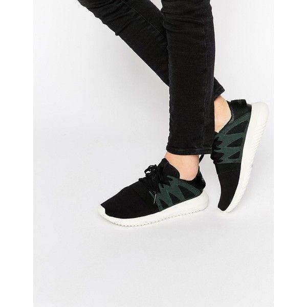 Buy Women Shoes / Adidas Originals Black Tubular Leather Trainers