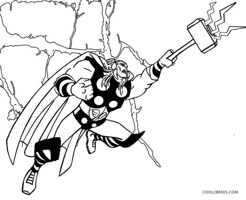 Printable Thor Coloring Pages For Kids  Cool2bKids  Comic Book