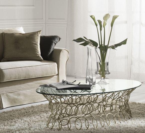 ... Design Couchtisch Modern Ovale Glasplatte Metall Basis Möbel Ideen   Designer  Couchtische Modern Ideen ...