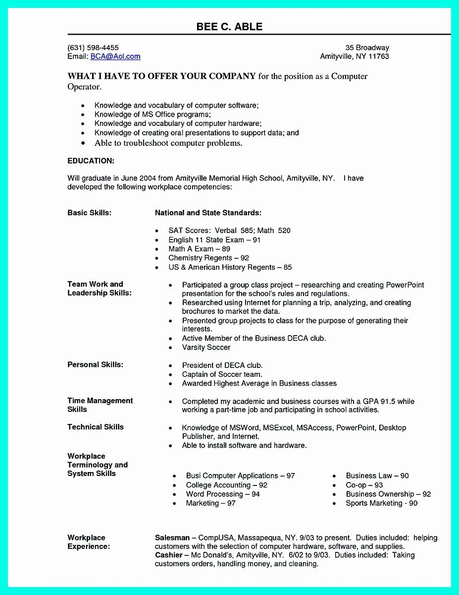 Resume Technical Skills Section Examples