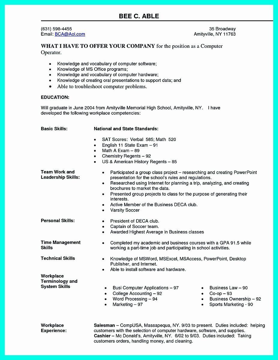 25 Best Computer Science Resume in 2020 Resume skills