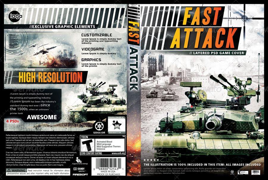 VISIT TO GET FULL Battle War Videogame Stationery DVD Cover