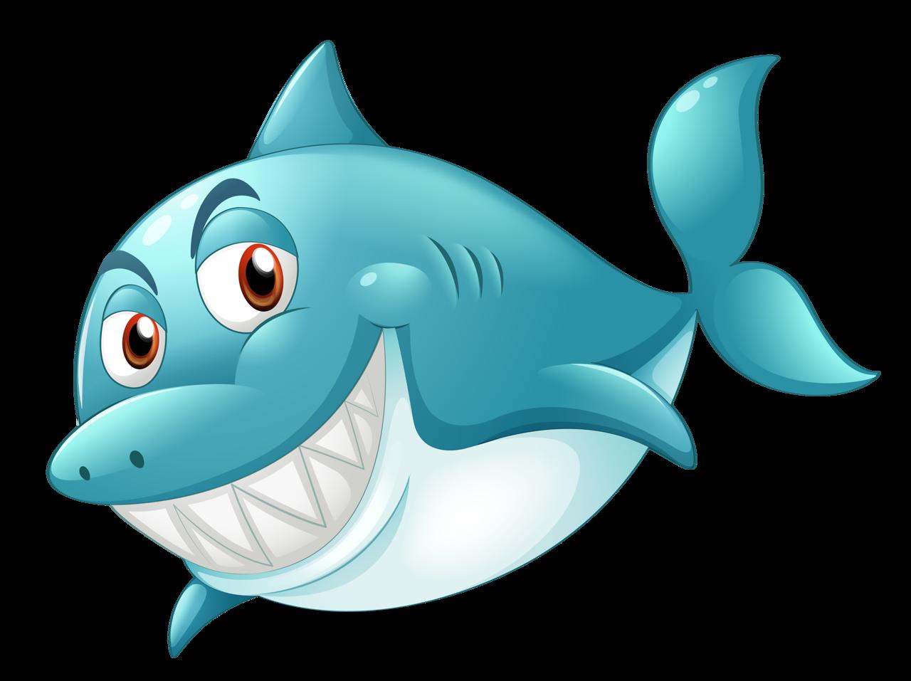 Мультяшные рыбки и морские