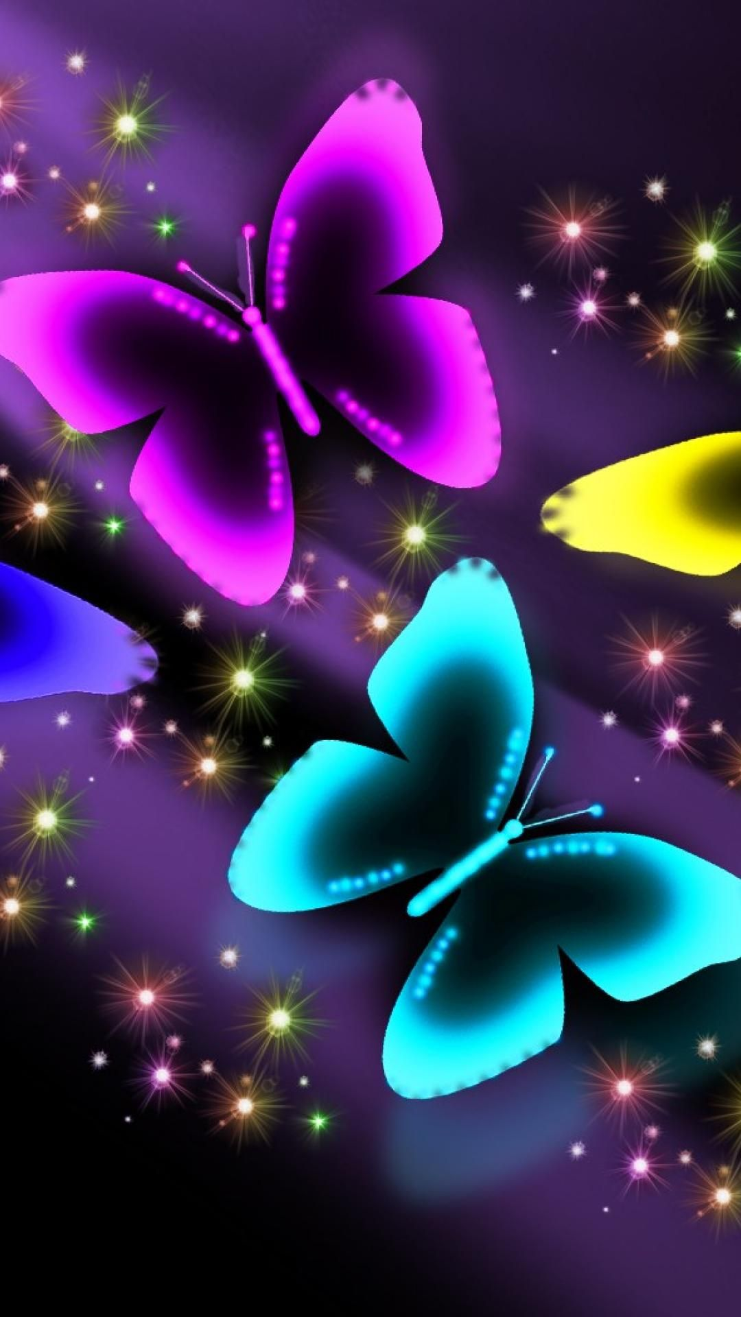 Neon Butterflies Backgrounds Girly Pink Iphone 6 Plus