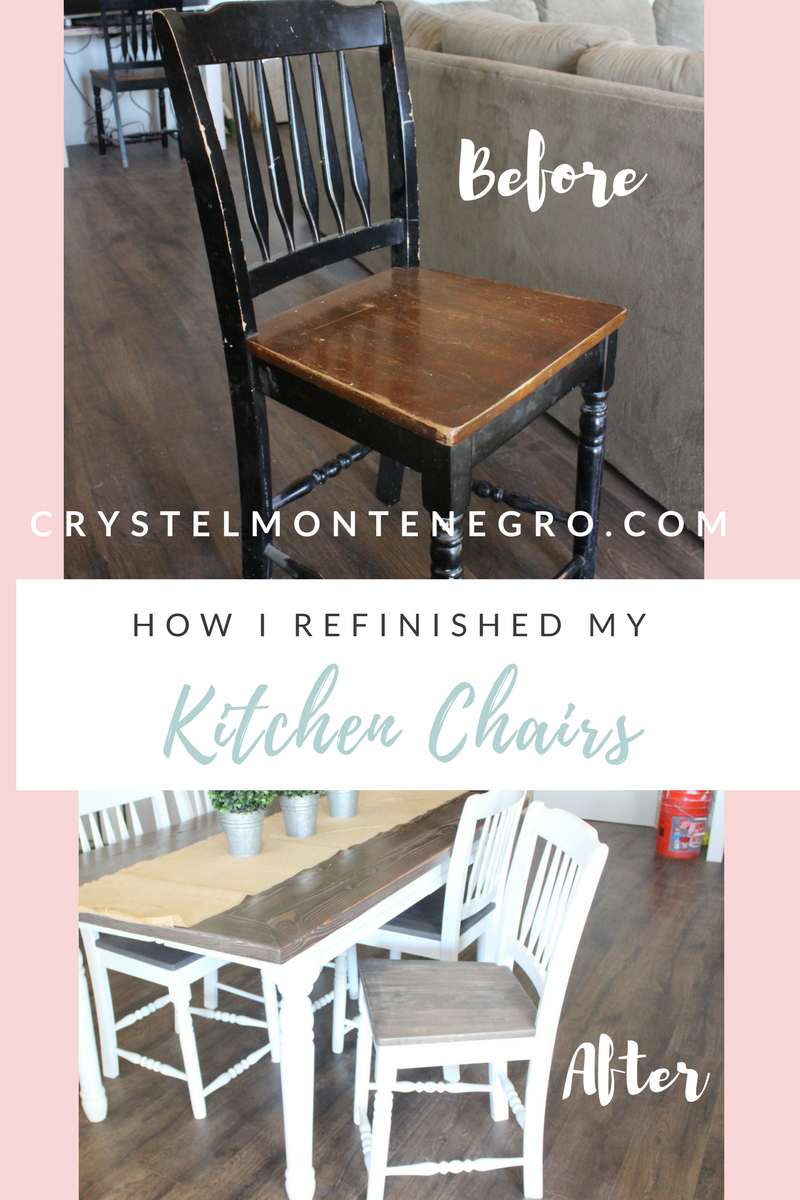 How I Refinished My Kitchen Chairs Crystels Projects Kitchen