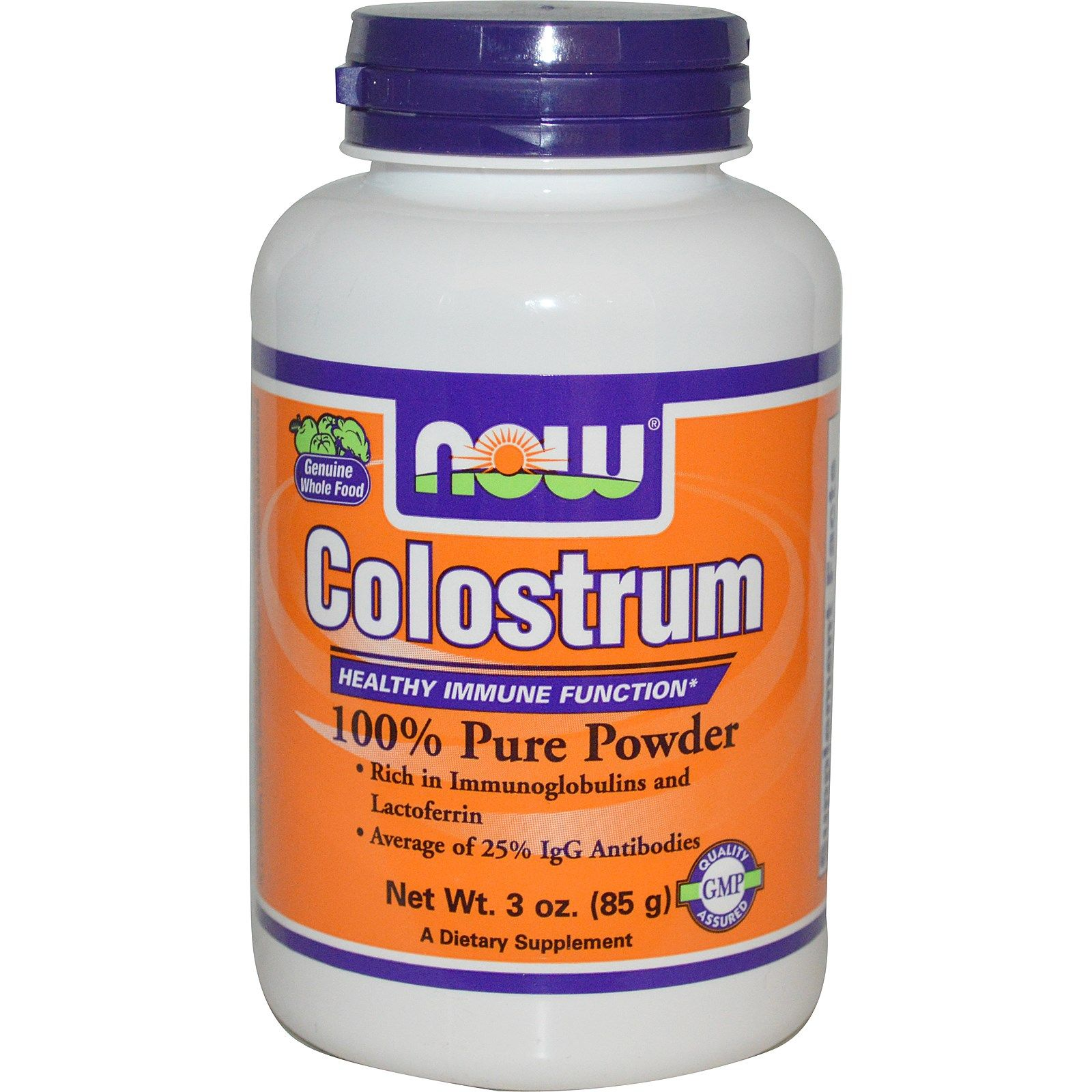 Now Foods, Colostrum 100 Pure Powder, 3 oz (85 g) Now