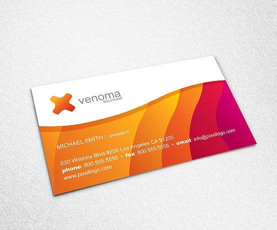 A Multicolor Business Card Design Businesscard 999