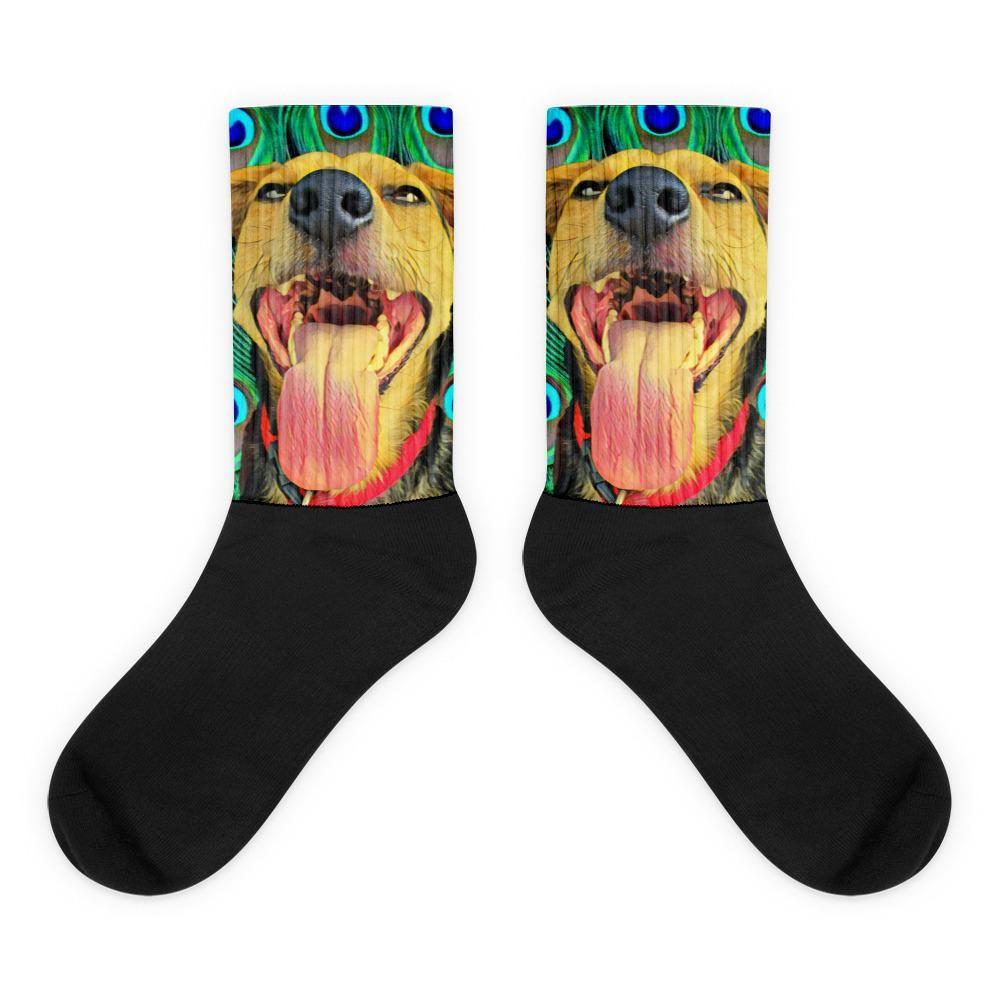 Black foot socks Doggie