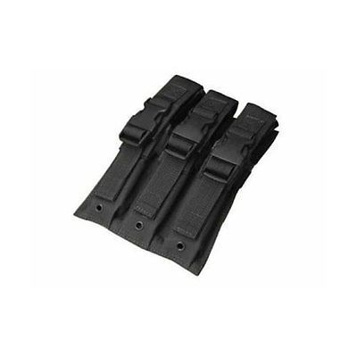 New Tactical Molle Quadruple Mag Holder Pouch Black With Flap Hook/&Loop Closures