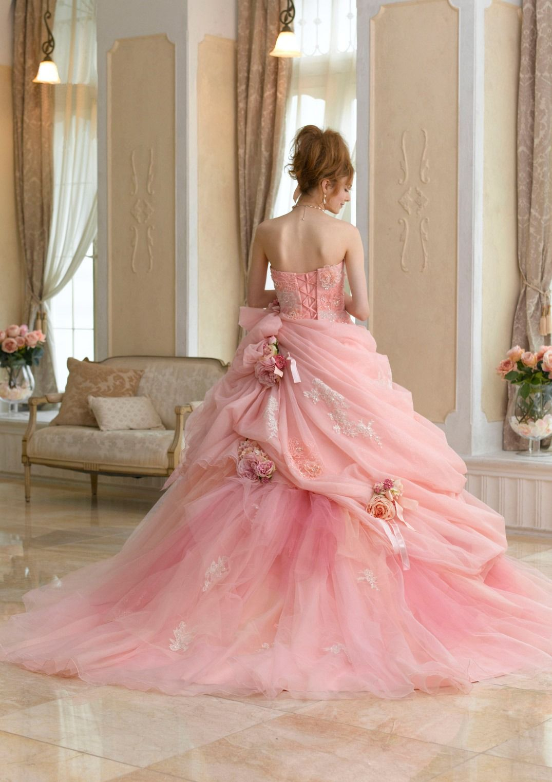 dball~dress ballgown | Pretty in pink | Pinterest | Rosas, Rosas ...