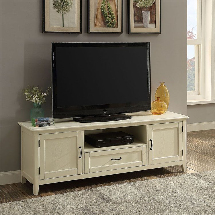 American Style Antique White Tv Lcd Wooden Cabinet Designs Small Living Room Decor Small Living Room White Tv #wooden #cabinet #for #living #room
