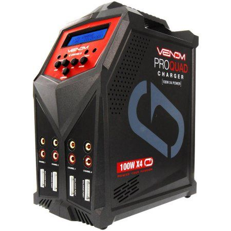 Venom Pro Quad 400W/7A 4-Port AC/DC Multi-Chemistry LiPo, LiHV and NiMH Battery Balance Charger with Two 5V/2.3A USB Outputs