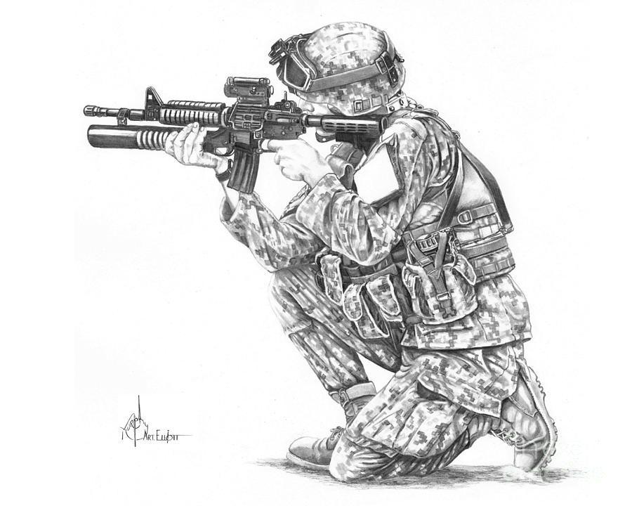 Soldier Drawings - Pelfind