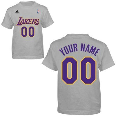 the latest df54b f6ff2 adidas Los Angeles Lakers Toddler Game Time Custom T-Shirt ...