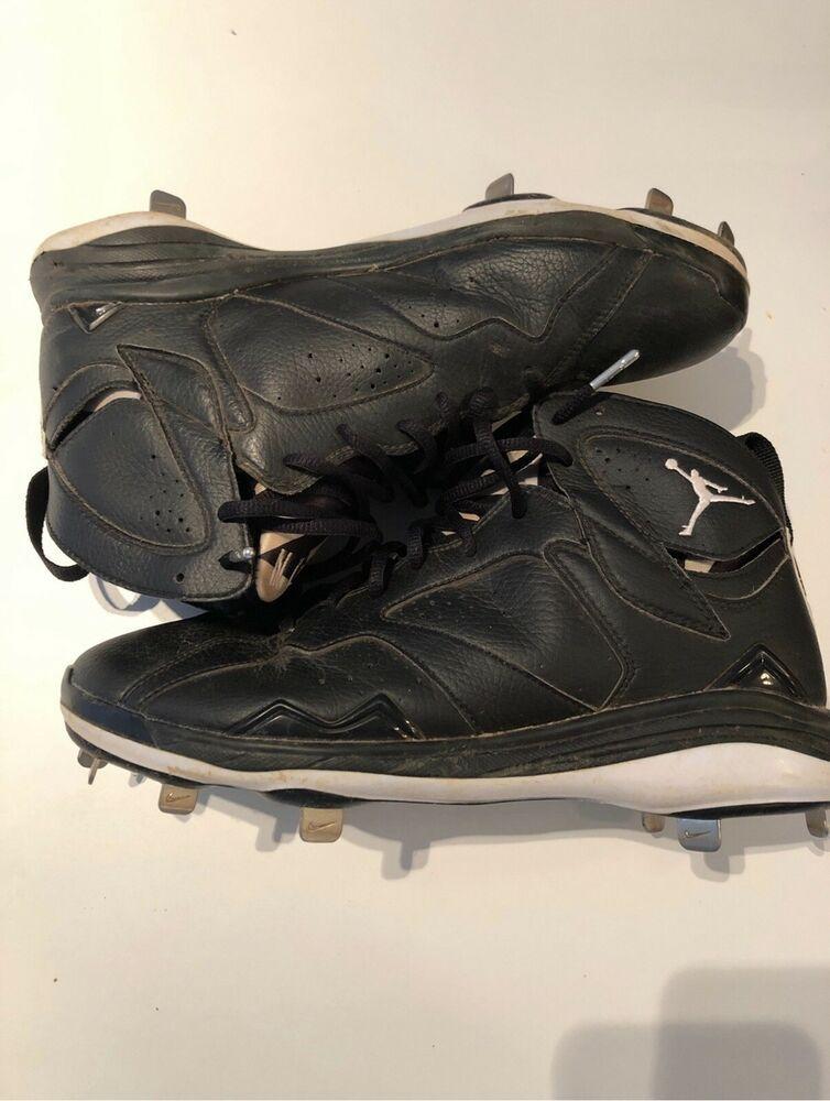 b576b110ebb3 Advertisement(eBay) Air Jordan 7 Retro VII Metal Baseball Cleats Size 10  Black White