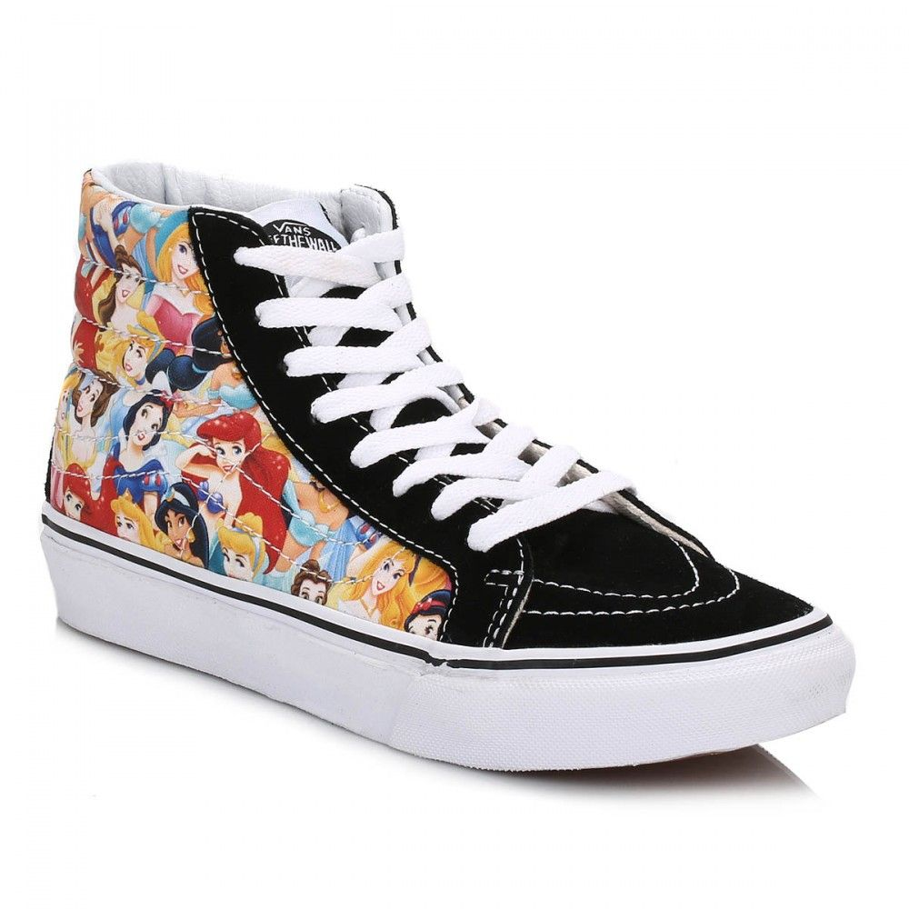 a74e7c4ded Vans Disney Womens Black Multi Princess SK8-Hi Trainers