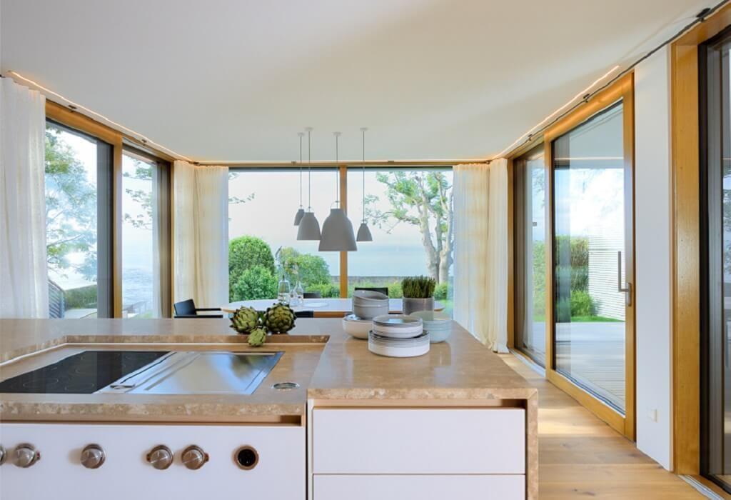 Haus Einrichtung küche einrichtung haus am see baufritz hausbaudirekt de