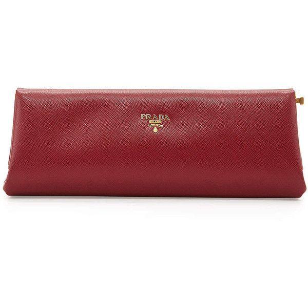 Prada Saffiano East-West Frame Clutch Bag (4 8760684d6f736