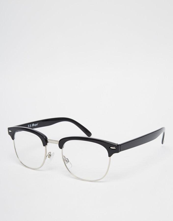 dd4b7bfe52 AJ Morgan A J Morgan Clubmaster Glasses - Black Mens Glasses Frames