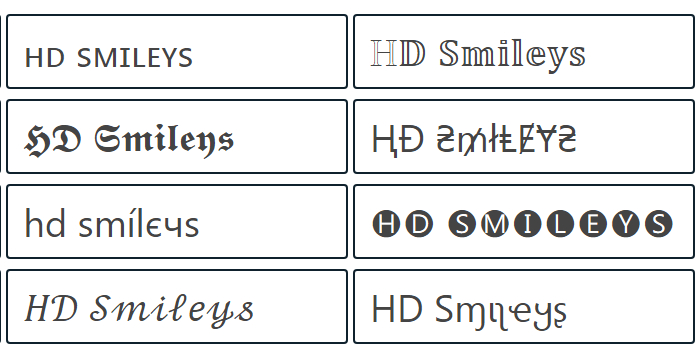 Cool And Fancy Text Generator For Facebook And Social Media Text Generator Text Emoji List