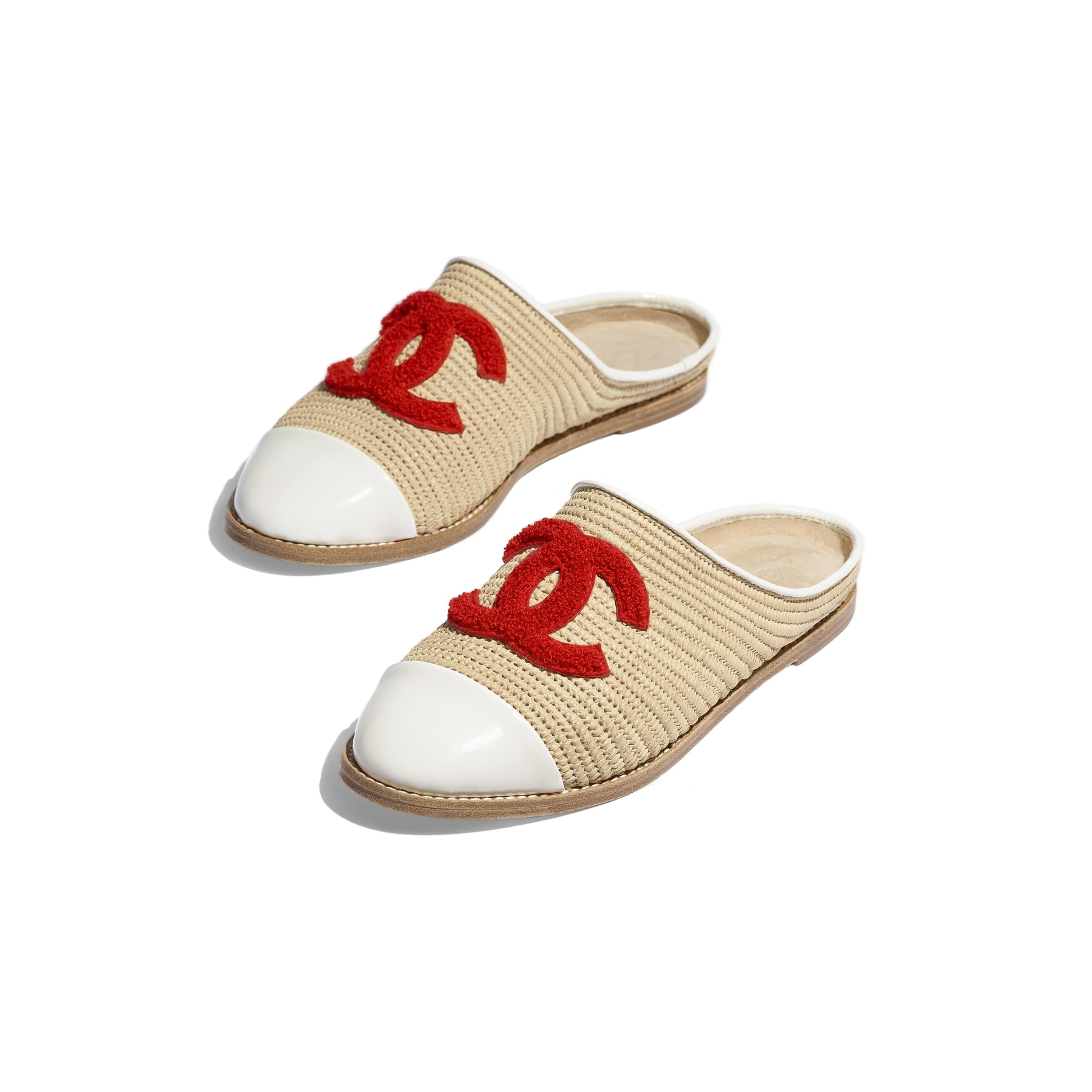 e7c191a03 Espadrilles - Beige & Red - Straw & Fabric - Other view - see ...