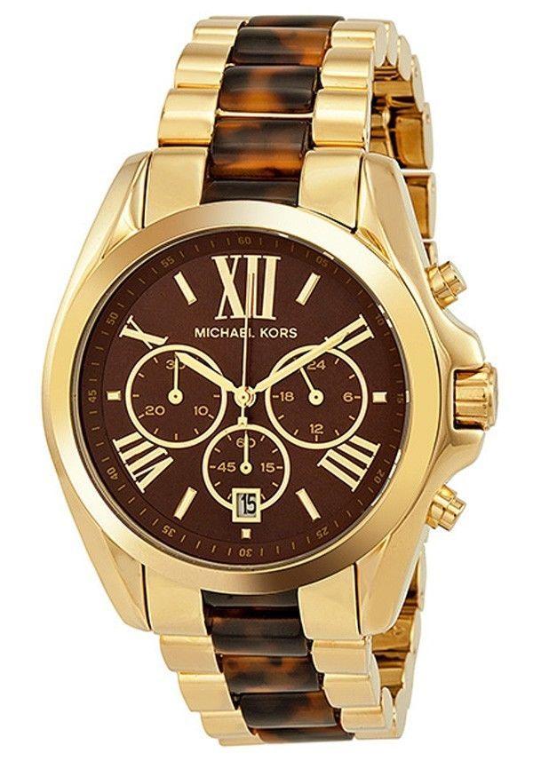 2f82df906a6e Michael Kors Women s Bradshaw Gold Bracelet Brown Dial Watch MK5696   MichaelKors