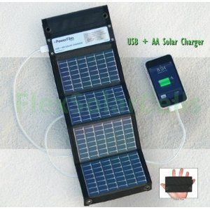 Charges 2 Aa Batteries With Usb Output Works Better Than Any Small Solar I Have Seen Solar Charger Evacuation Kit Solar
