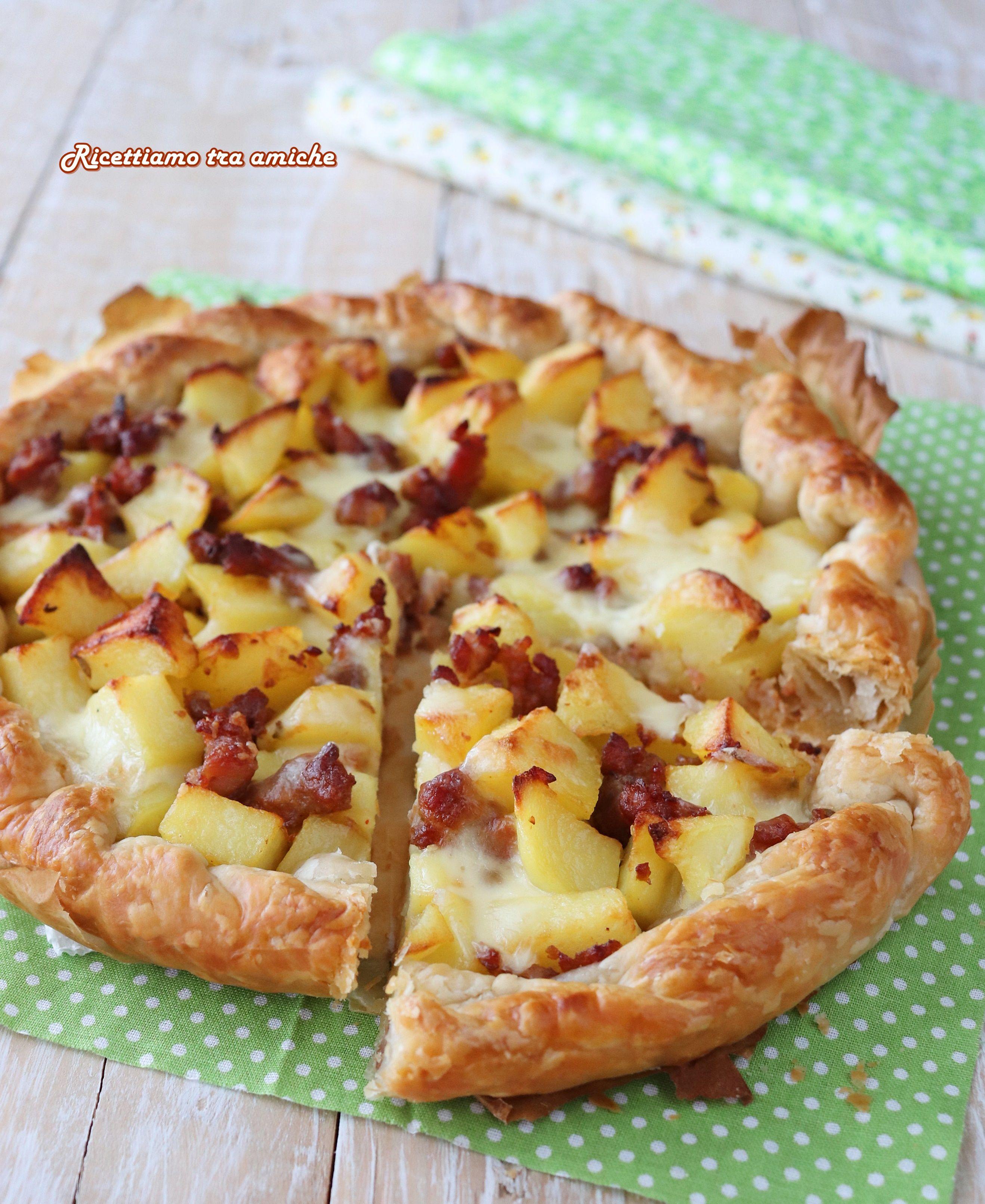 Ricetta Torta Rustica.Torta Salata Con Patate Salsiccia E Mozzarella Ricetta Ricetta Ricette Torte Salate Con Patate Ricette Di Cucina