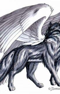 Demon Wolf With Wings : demon, wings, Purple, Winged, Photos,, Fantasy, Wolf,, Demon, Drawings