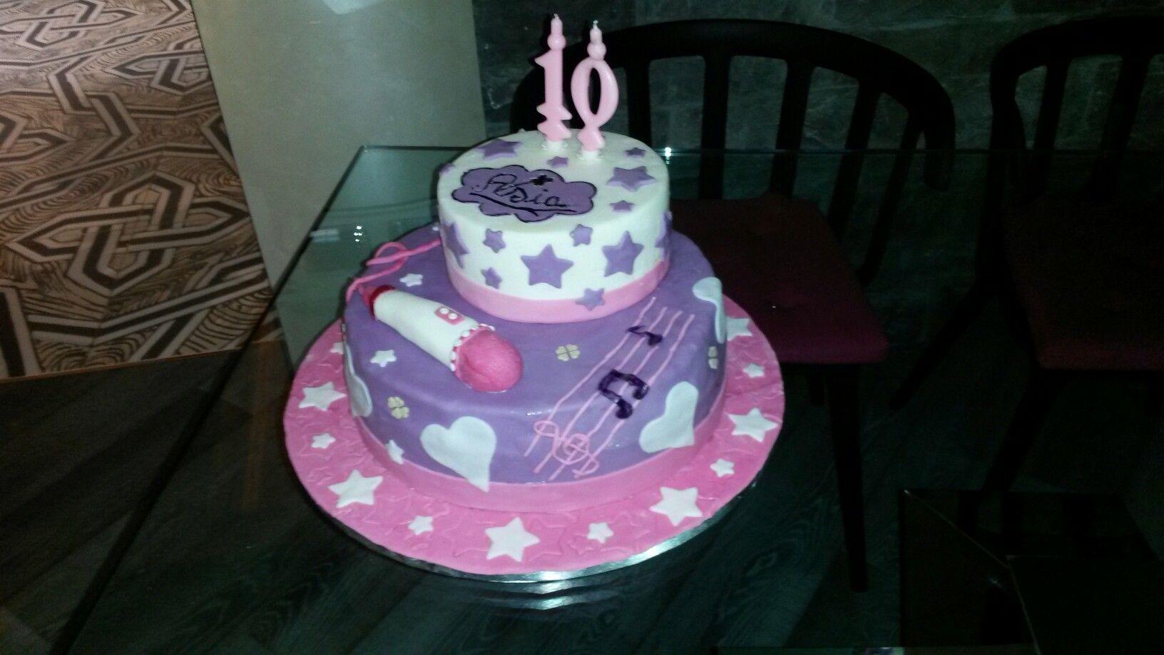 Pasta di zucchero - torta violetta cake design